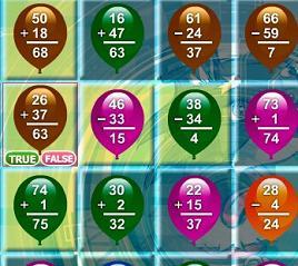 Play Math Balloons Game