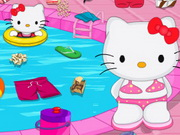 Play Hello Kitty Messy Swimming Pool Game