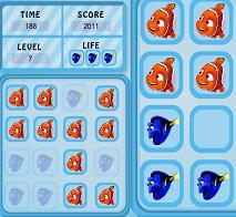Play Finding Nemo Memory Tiles Game