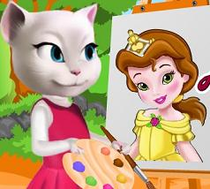 Play Angela Painting Baby Belle Game