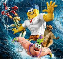Play Sponge Out of Water Jigsaw Game