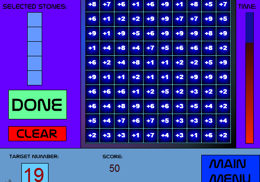 Play 5 Stone Math Game