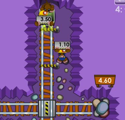 Play Mathematical Mining Moles Game