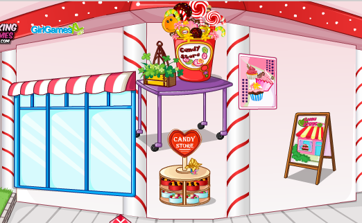 Play Candy store decoration Game