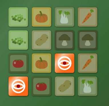 Play Mind Training Vegetables Game