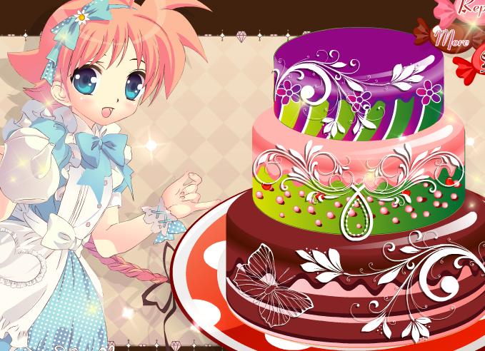 Play Blossom Cake Decoration Game