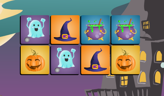 Play Halloween Memory Game Game
