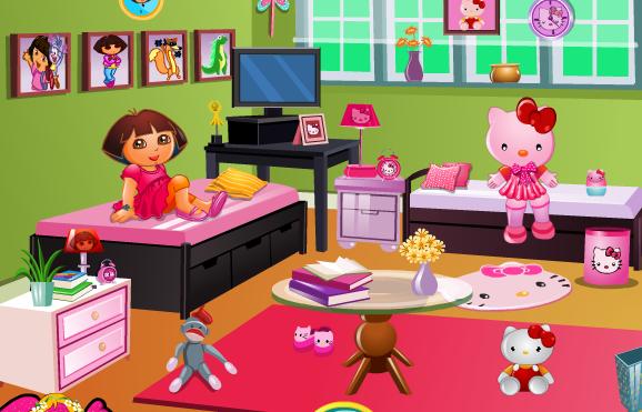 Play Doras Hello Kitty Room Decor Game