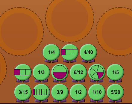 Play Equivalent Fractions Game