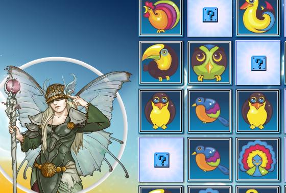 Play Fantasy Birds Memory Game