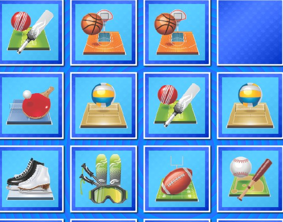 Play Sports Memory Game