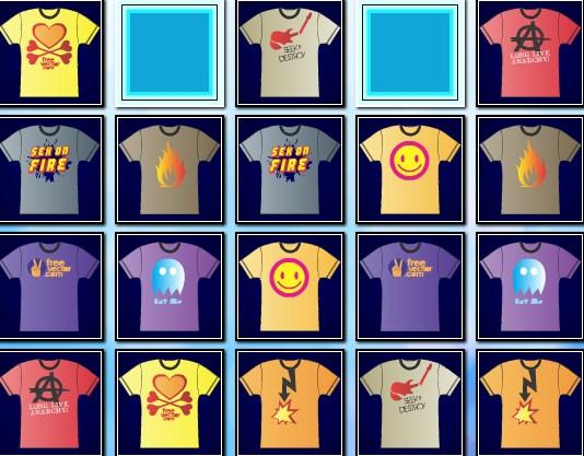 Play T Shirt Memory Game