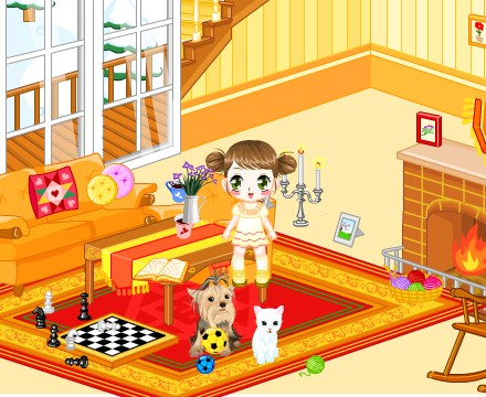 Play Kids Living Room Decor Game