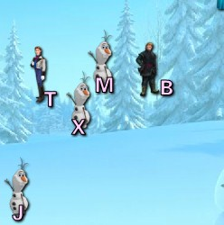 Play Frozen Typing Game