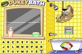 Play Duckey Bath Hangman Game