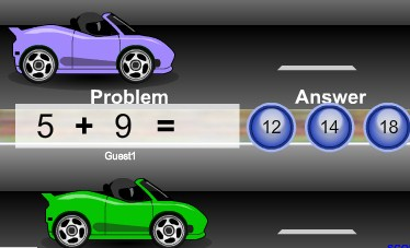Play Math Racers Addition Edition Game