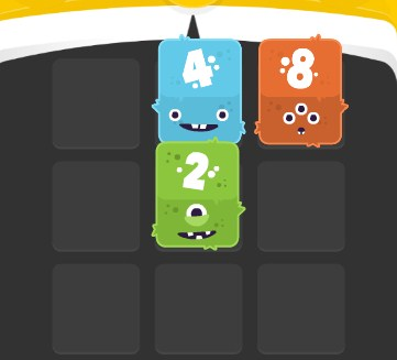Play 2048 Fuzzy Monsters Game