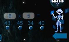 Play Space Math Game