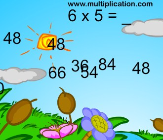 Play Bubble Bugs Multiplication Game