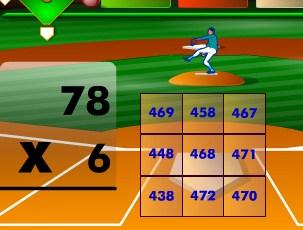 Play Batter's Up Base Ball Math   Multiplication Ed Game