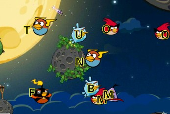 Play Angry Birds Space Typing Game