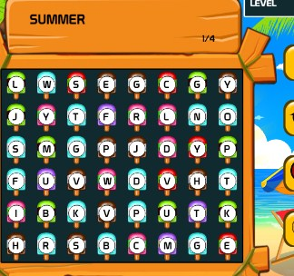Play Summer Words Game