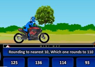 Play Bike Racing Math Rounding Game
