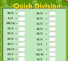 Play Quick Divisions Game