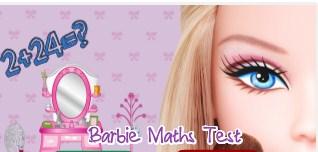 Play Barbie Maths Test Game