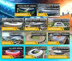 Play 11 Stadiums Euro 2020 Puzzle Game